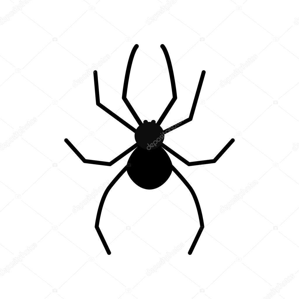 Araign e noire dessin anim image vectorielle worldofvector 127128616 - Araignee dessin ...