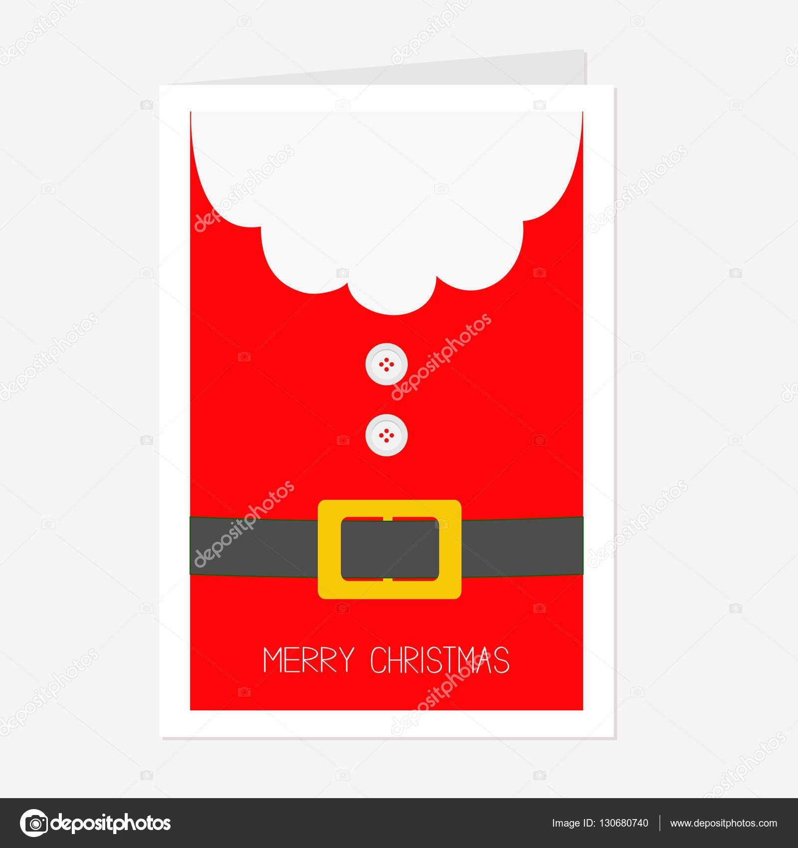 santa claus coat with belt stock vector - Santa Claus Coat
