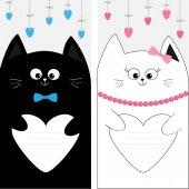 Fényképek Fekete-fehér macska pár