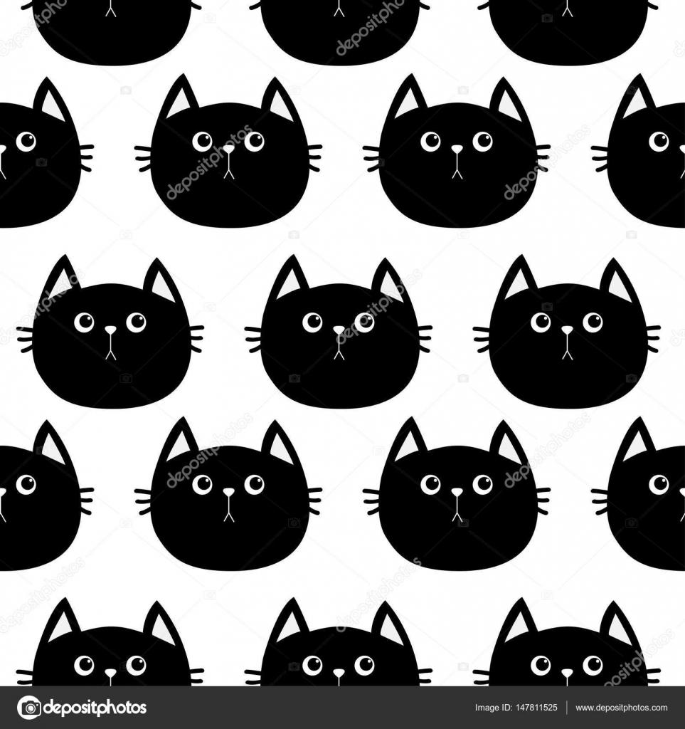 Personnage De Dessin Anime Mignon Du Chat Noir Image Vectorielle