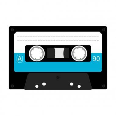 Plastic audio tape cassette.