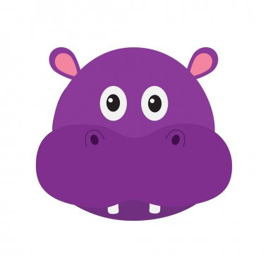 Hippopotamus head face.