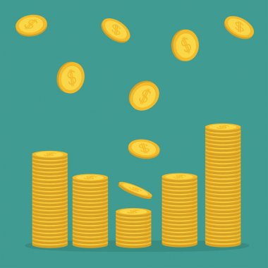 Stacks of gold coins icon