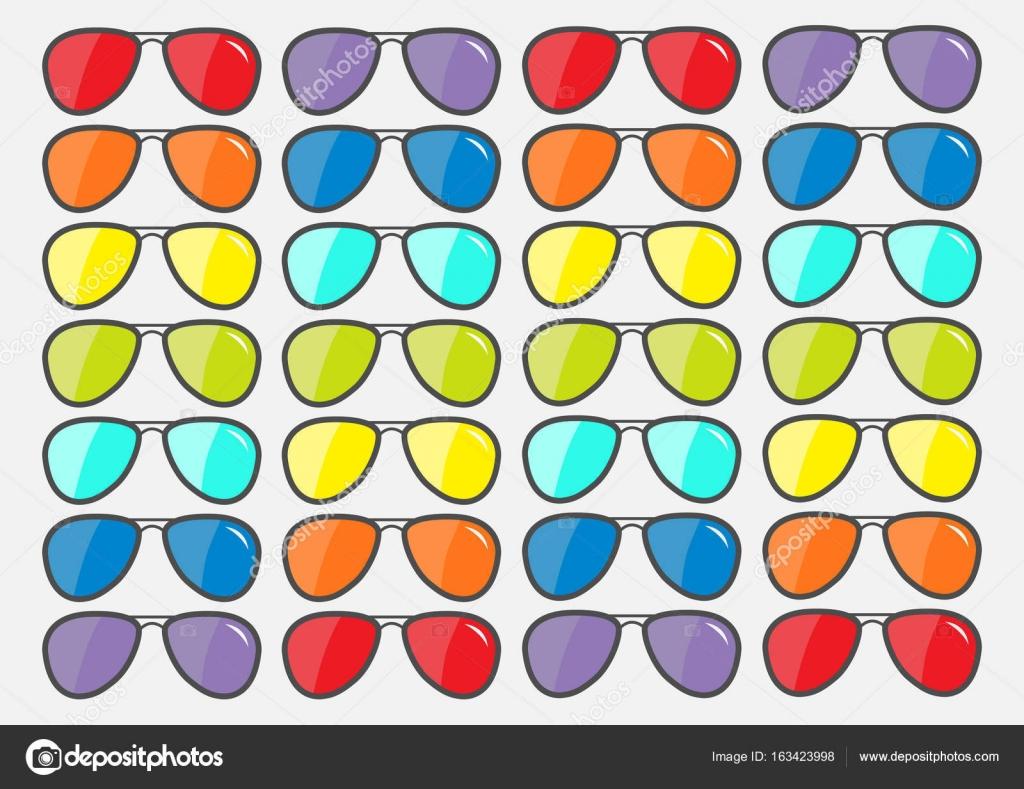b4d7639e809e1d Zonnebril pictogram. Glazen set — Stockvector © worldofvector  163423998