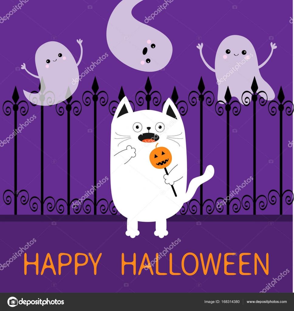 happy halloween card template stock vector worldofvector 168314380
