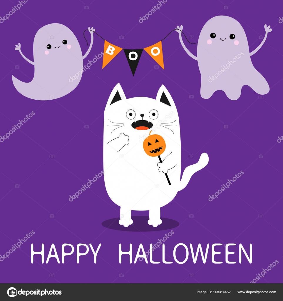 happy halloween card template stock vector worldofvector 168314452
