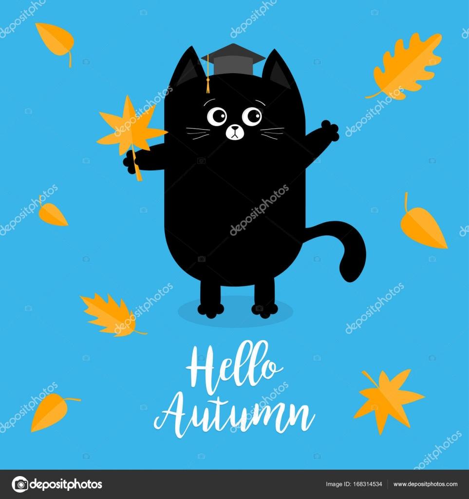 Bonjour Autumne Avec Animaux De Dessin Animé Image