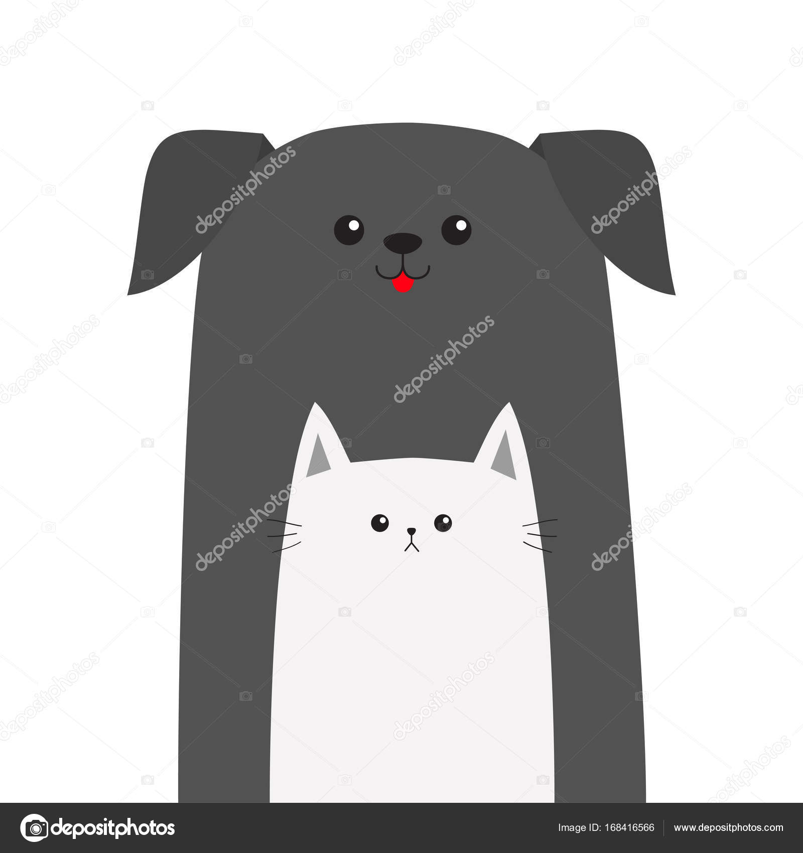 Pet Shop Icon With Dog And Cat Stock Vector C Worldofvector