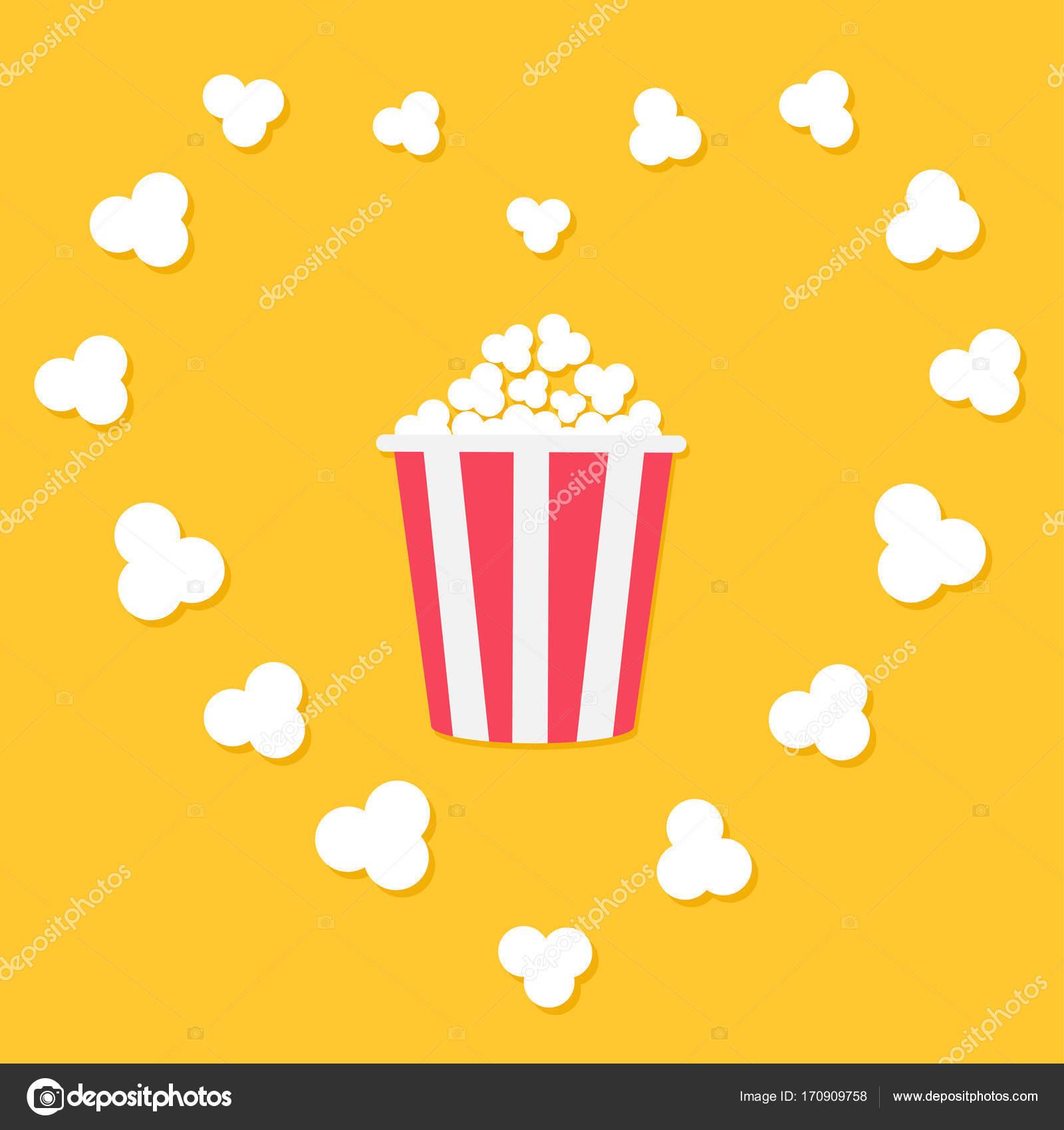 Cartel de la película de cine con palomitas de maíz — Archivo ...