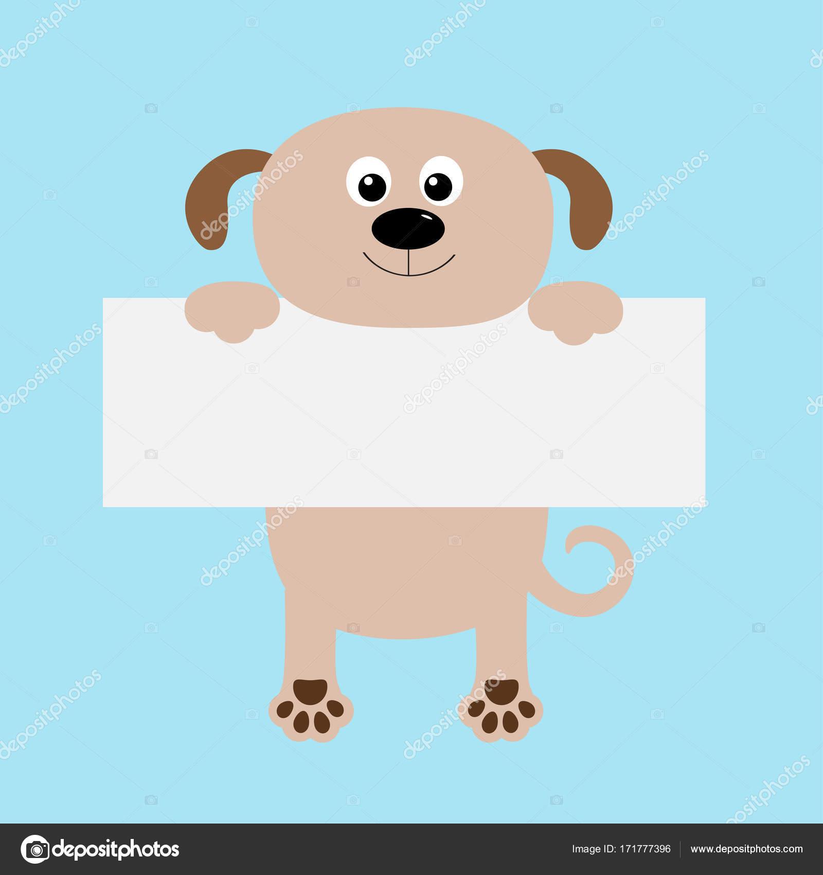 dog hanging on paper board template. — Stock Vector © worldofvector ...