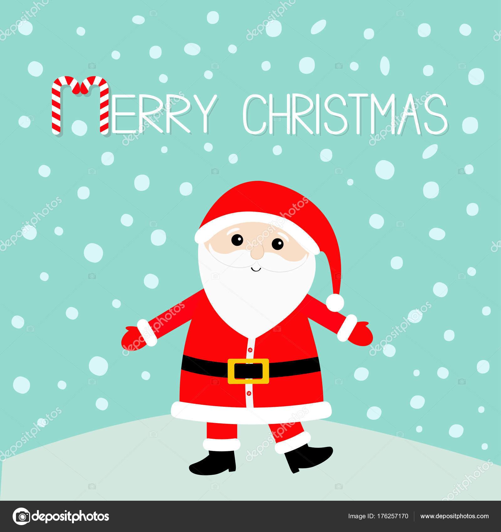 Père Noël Portant Chapeau Rouge Image Vectorielle Worldofvector
