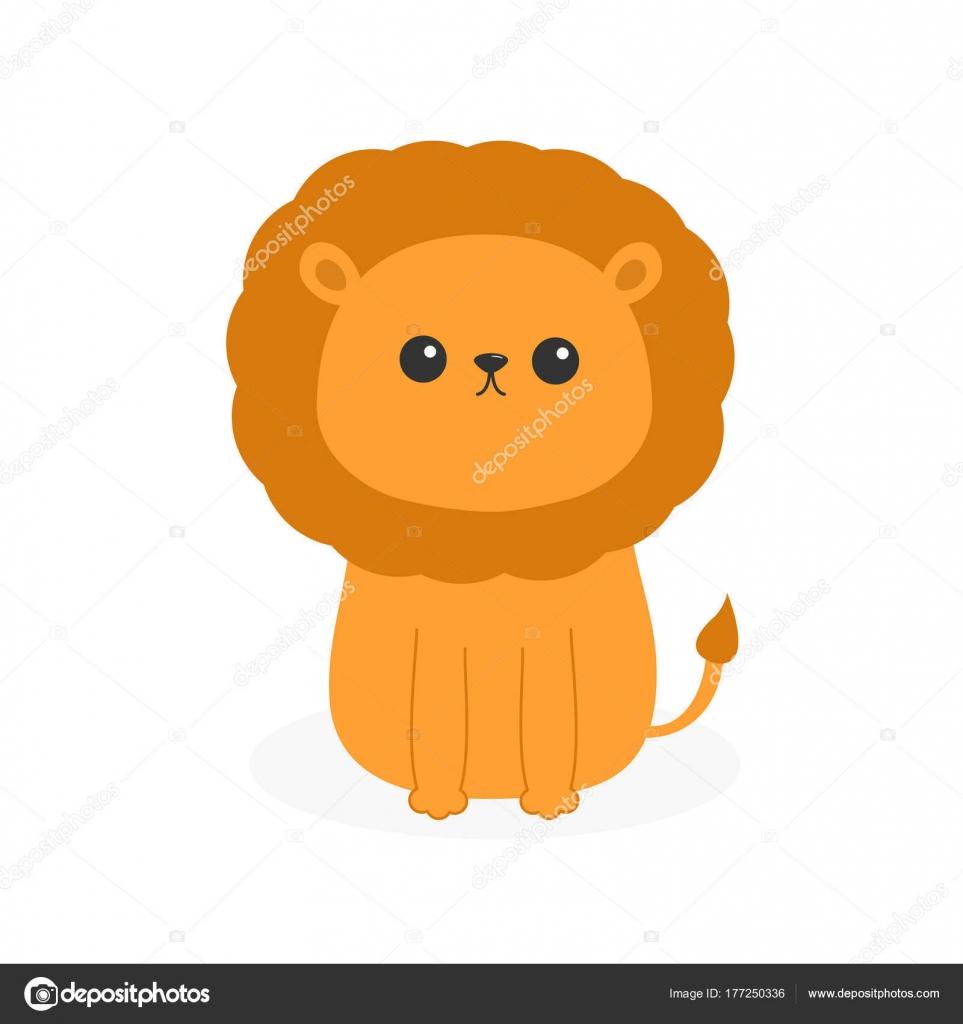 かわいい漫画面白いライオン ベクトル イラスト ストックベクター