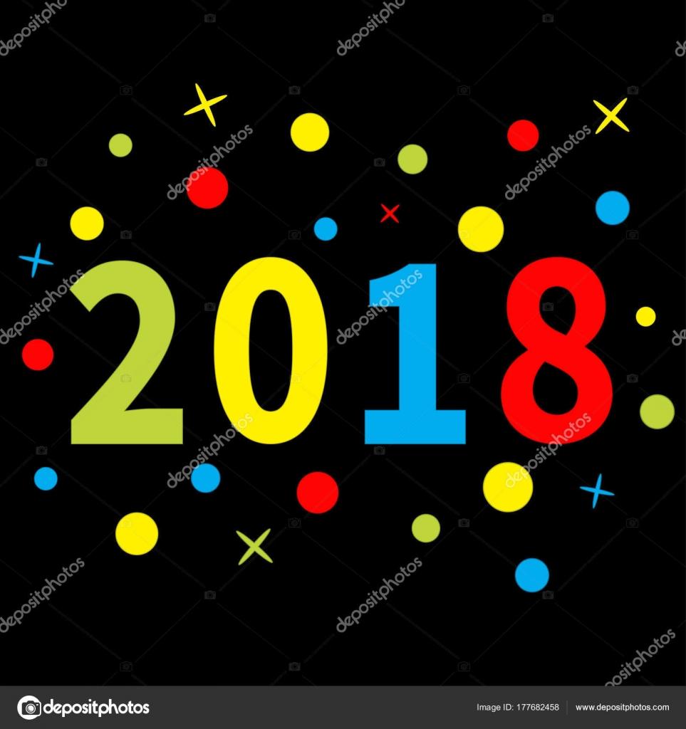 Plantilla de año nuevo 2018 — Vector de stock © worldofvector #177682458