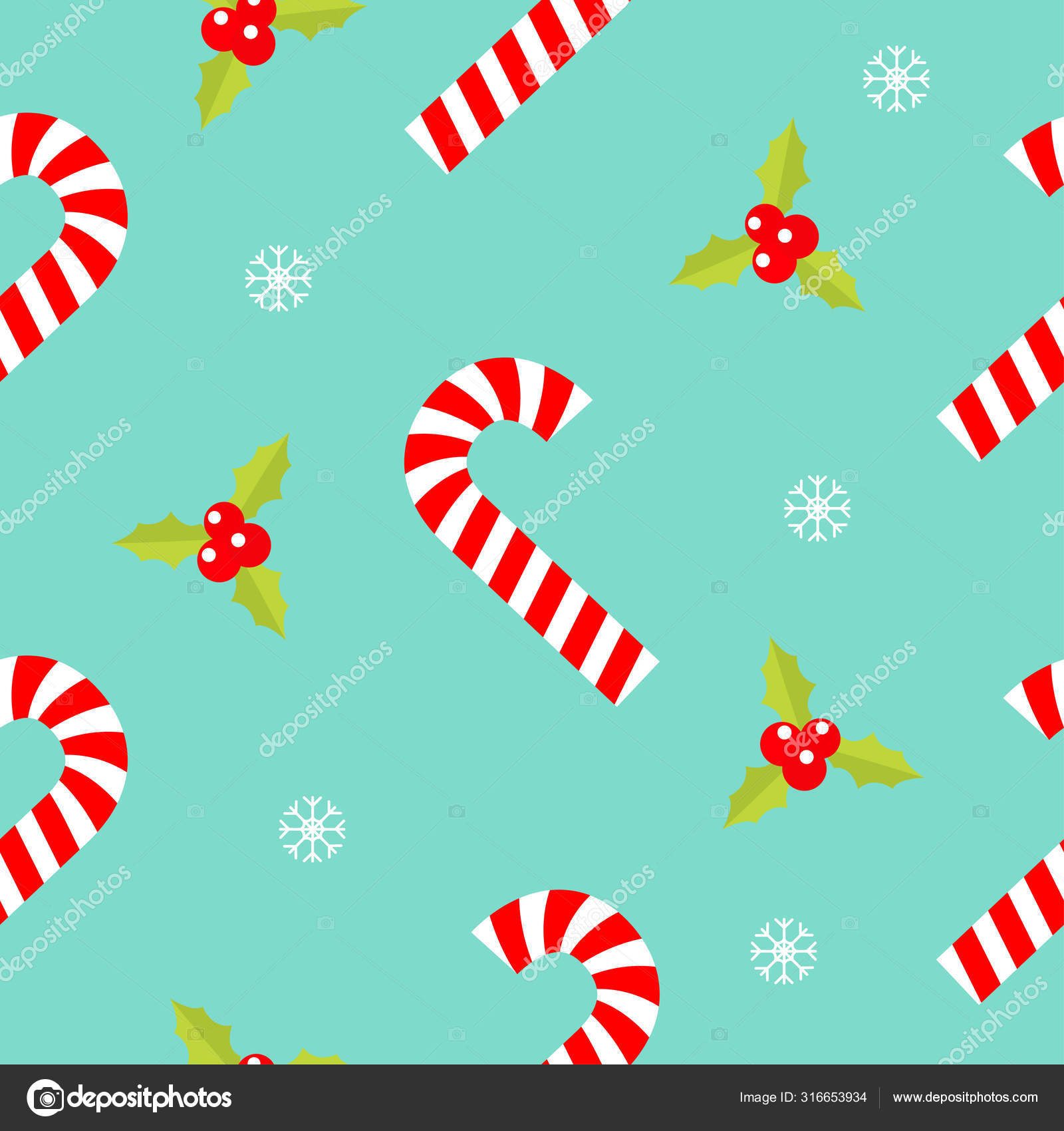 depositphotos 316653934 stock illustration merry christmas seamless pattern candy