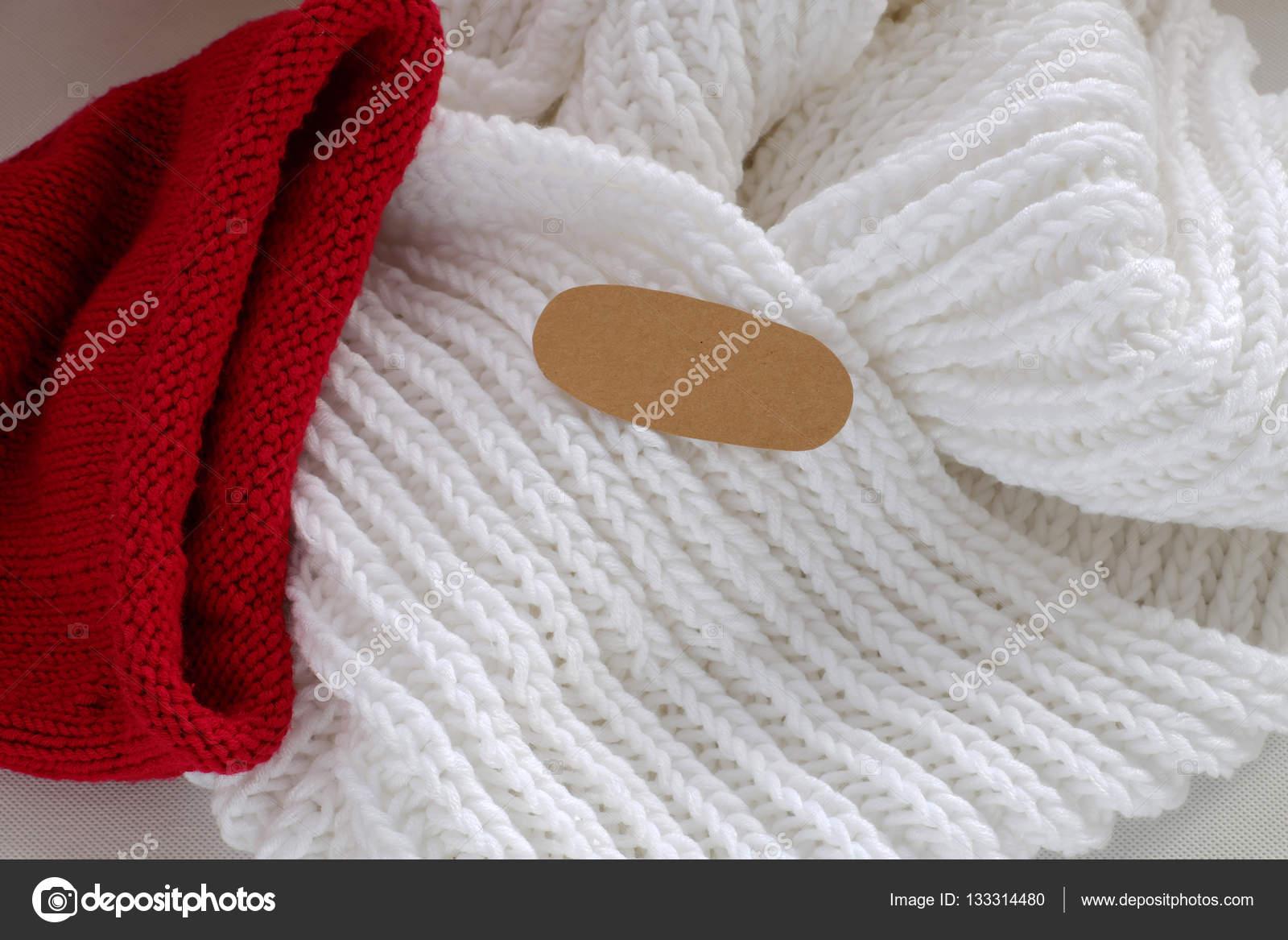 Bufanda blanca y roja   tejer bufanda blanca, sombrero rojo caliente ...