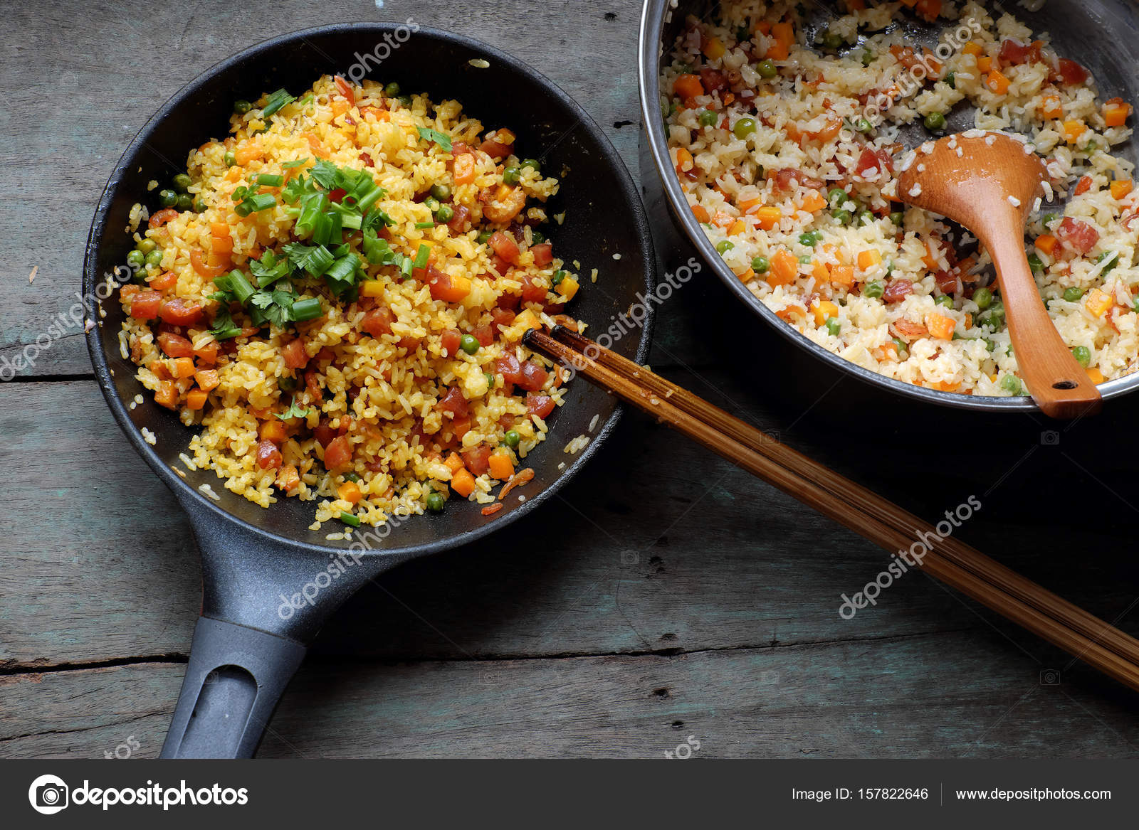 Vietnam food fried rice stock photo xuanhuongho 157822646 vietnam food fried rice make from rice egg sausage dried shrimp bean cucumber tomato carrot and scallion processing with colorful food material on ccuart Images