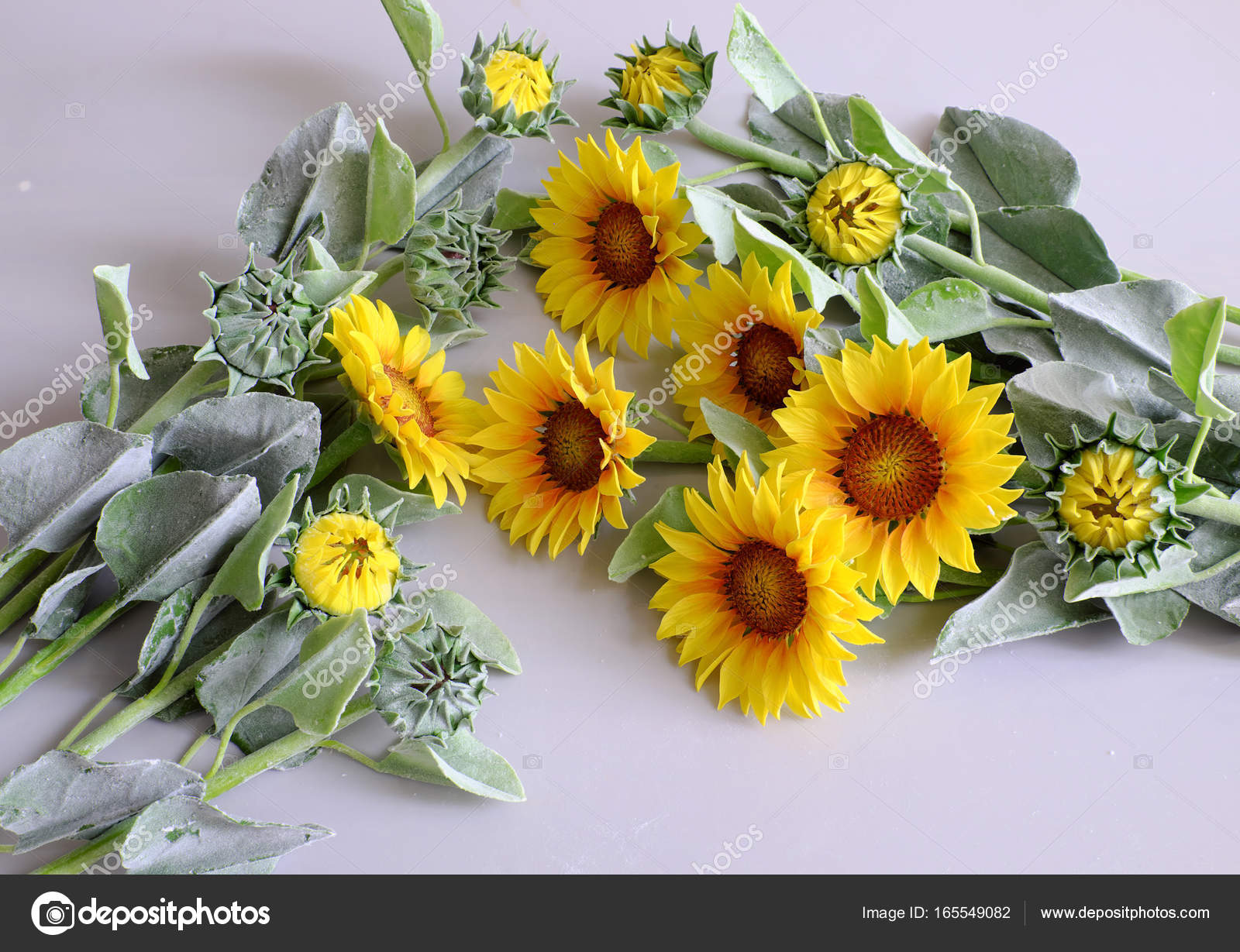 Clay flower sunflower bouquet stock photo xuanhuongho 165549082 amazing clay flower handmade product for home decor sunflower bouquet bloom in yellow and green leaf on white background beautiful artificial flower izmirmasajfo Images