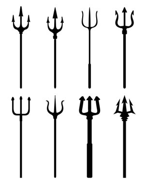 silhouettes of trident