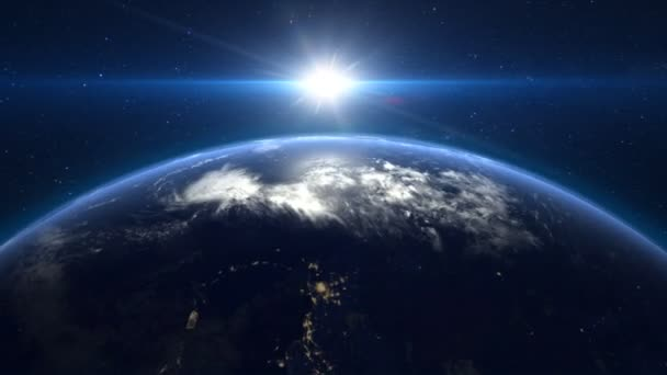 Earth seen from space. Elements of this video furnished by NASA