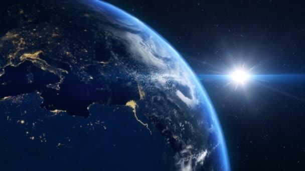 Europa vom Weltraum aus gesehen. Elemente dieses Videos von nasa