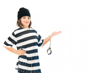 teenage boy prisoner presenting with hand