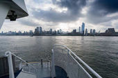 New York city seen from front of boat