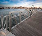 View of New York city from boardwalk