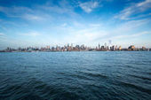 Fotografie Pohled z New Yorku přes vodu