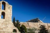 Antiche rovine e restauro del Partenone dellAcropoli, Atene, Grecia