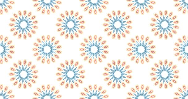 Vintage univerzální krásné pozadí s animovaným východní vzory. Retro styl pozadí s geometrickými ornamenty. Tapety 4k Ultra Hd rozlišení