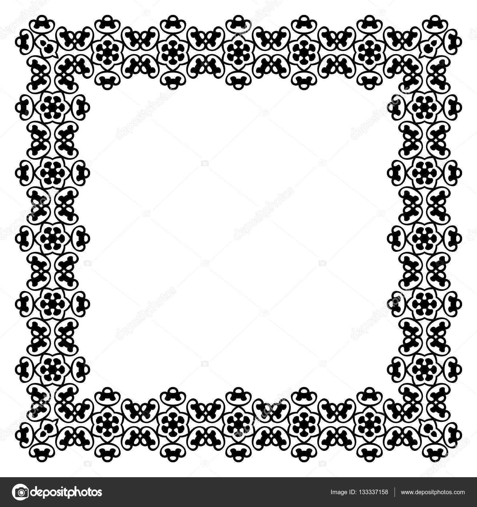 Decorative Vintage Frame Border Pattern Vector Stock