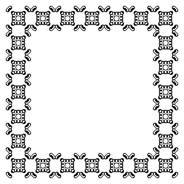 Decorative vintage frame. Border pattern vector