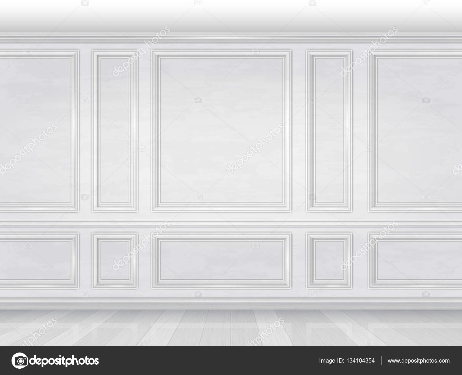 White wooden wall panel stock vector belikovand 134104354 for Decoration murale 1 wall