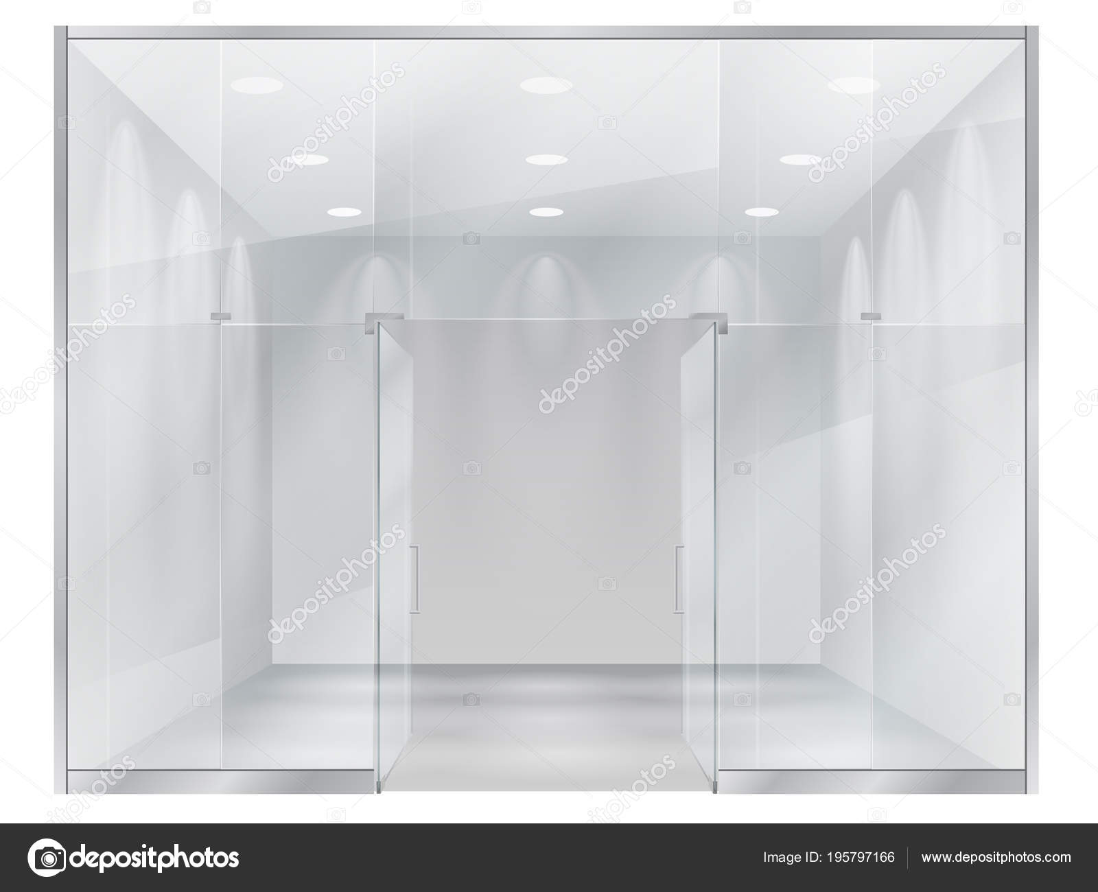 Small Exhibition Stand Vector : Glass showcase boutique view interior small store large window