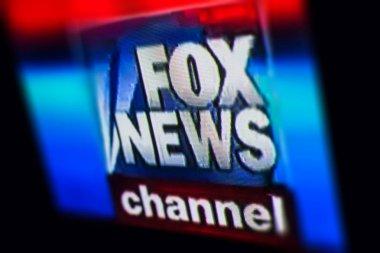 Photo of FOX NEWS chanel logo on a tv monitor screen