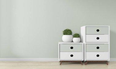 Mock up room interior design .3D rendering stock vector