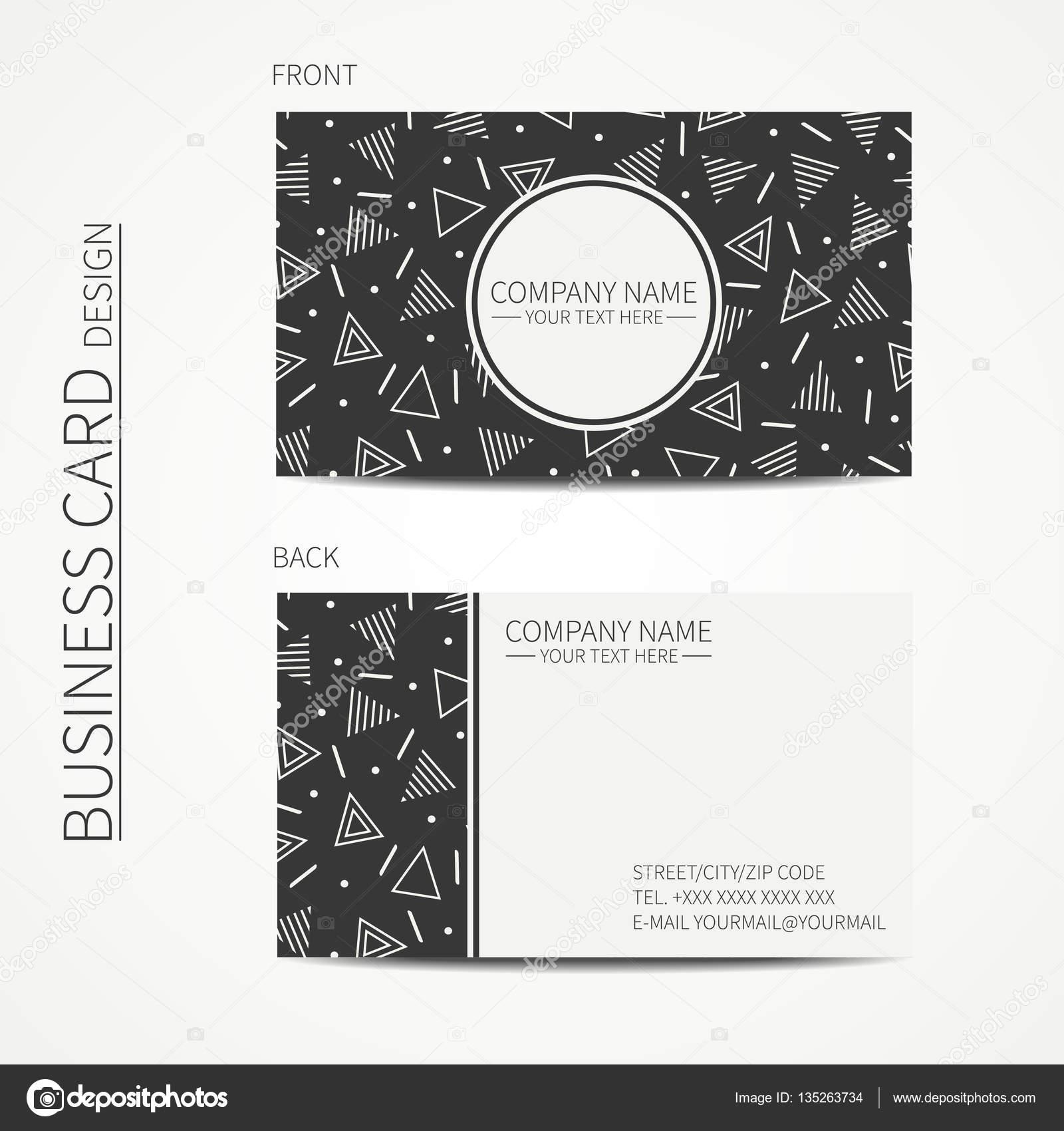 Vektor Einfache Visitenkarten Design Delta Trigon Vorlage