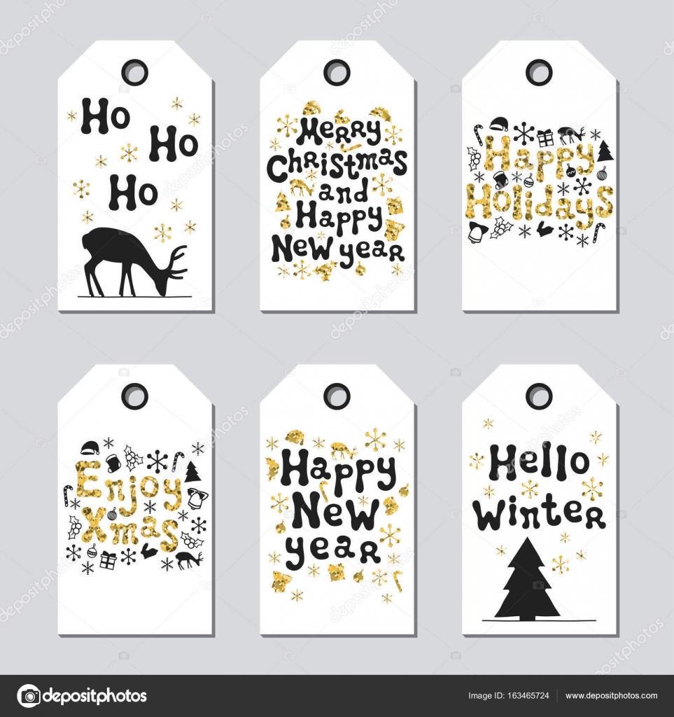Geschenkanhänger für Weihnachten und Neujahr. Karten Weihnachten ...