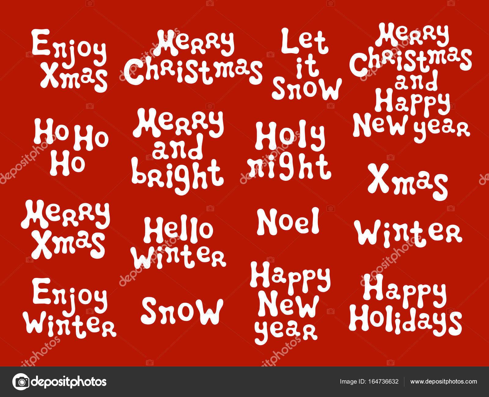 Frasi Per Gli Auguri Di Natale E Capodanno.Frasi Di Calligrafia Di Natale E Capodanno Insieme Scritto