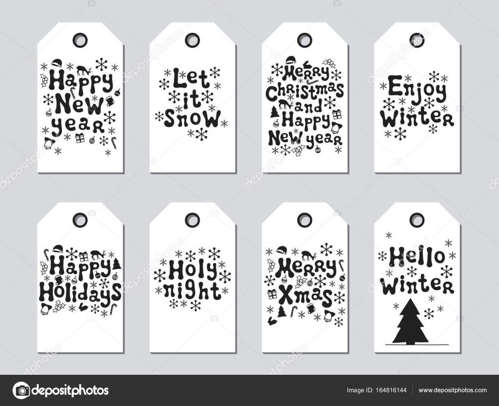 Geschenkanhänger für Weihnachten und Neujahr. Xmas-Set-Karten ...