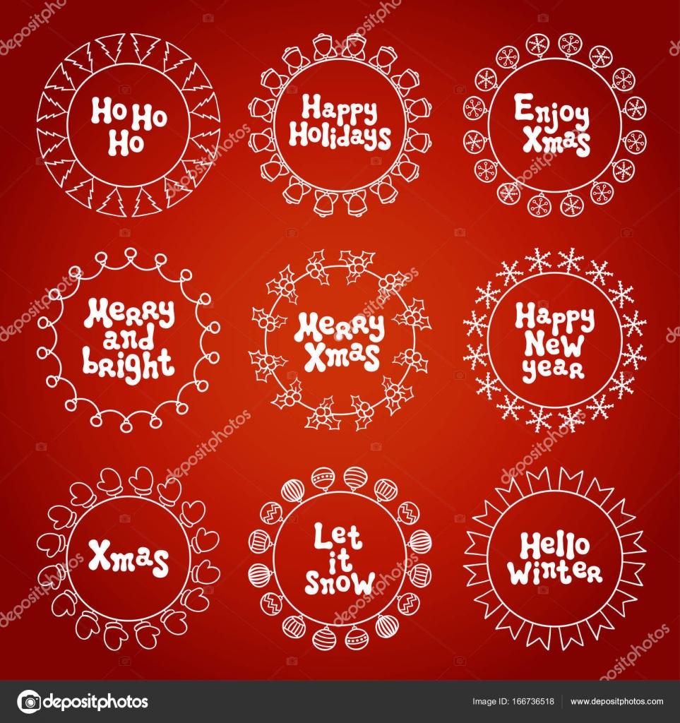 Frohe Weihnachten neues Jahr wünscht Etiketten Aufkleber und ...