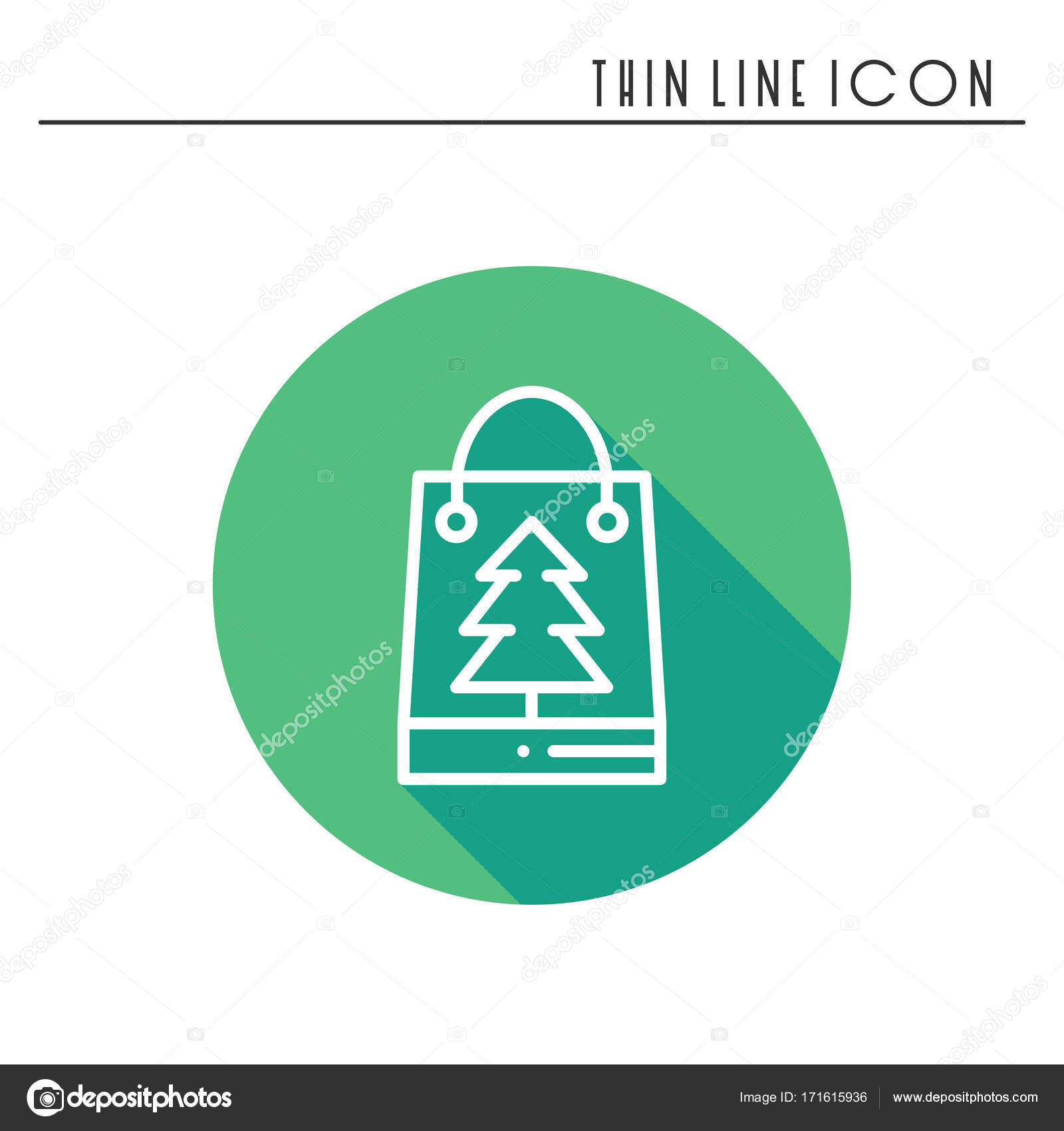 Christmas gift thin line icon. Present shopping, sale. New Year ...