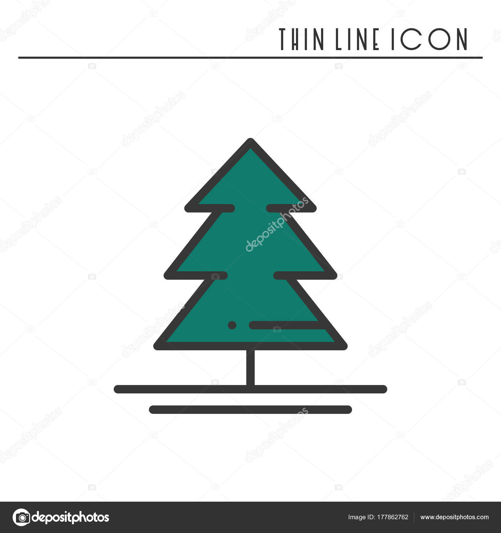 Christmas tree thin line icon spruce fir new year celebration christmas tree thin line icon spruce fir new year celebration outline decorated pictogram xmas winter element vector simple flat linear design biocorpaavc Image collections