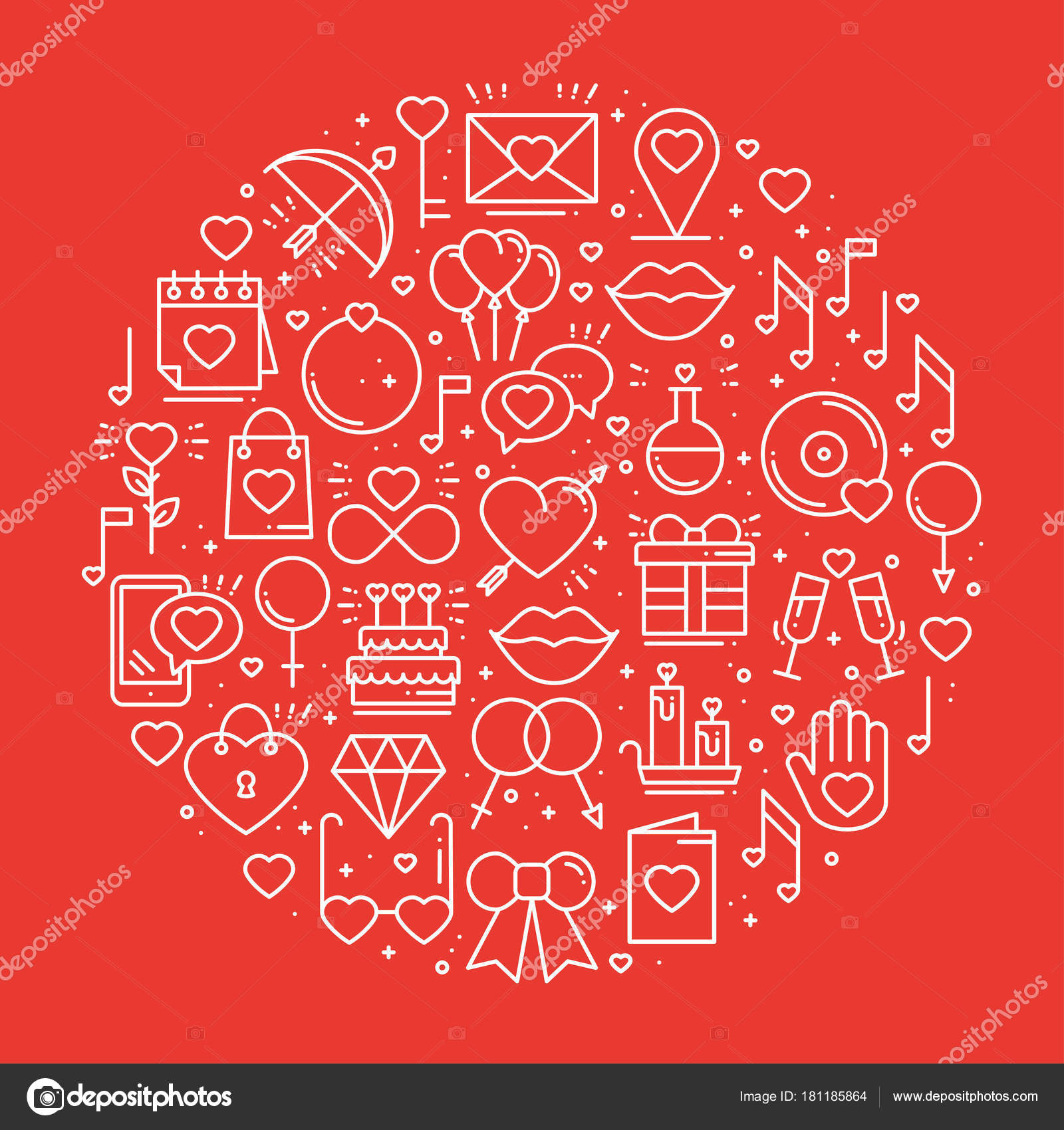 Unique love symbols choice image symbol and sign ideas circle with love symbols in line style love couple relationship circle with love symbols in line biocorpaavc