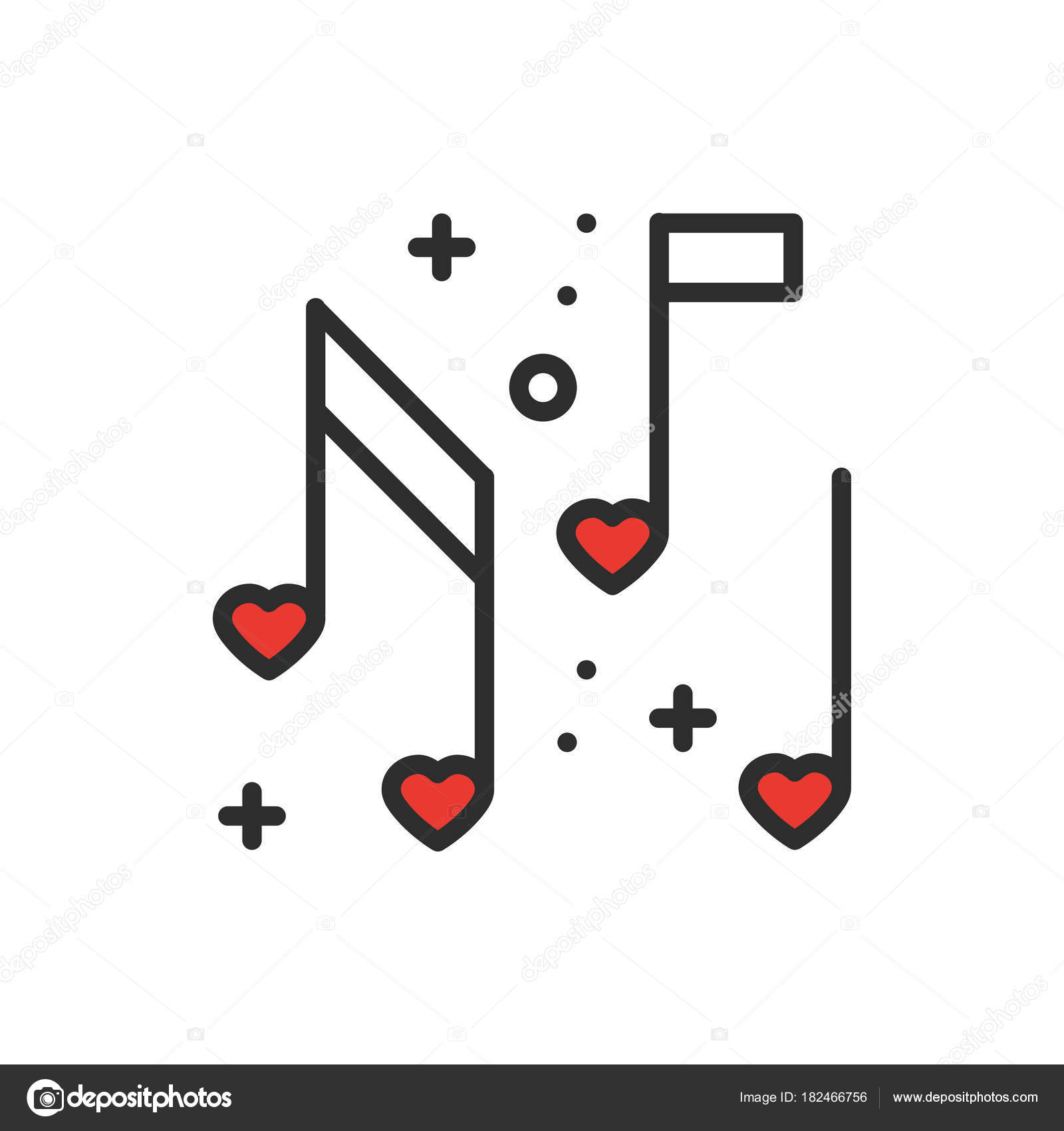 Love music heart notes line icon sign and symbol disco dance love music heart notes line icon sign and symbol disco dance nightlife club party ccuart Image collections