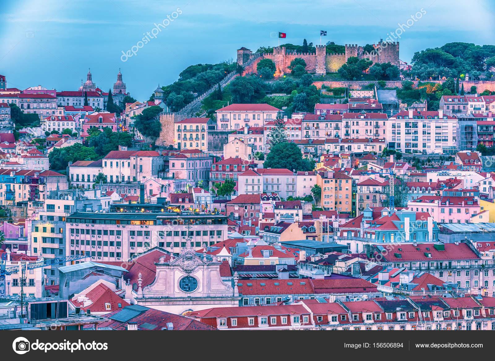 Lisboa portugal antena ver el casco antiguo y sao jorge - Casco antiguo de lisboa ...