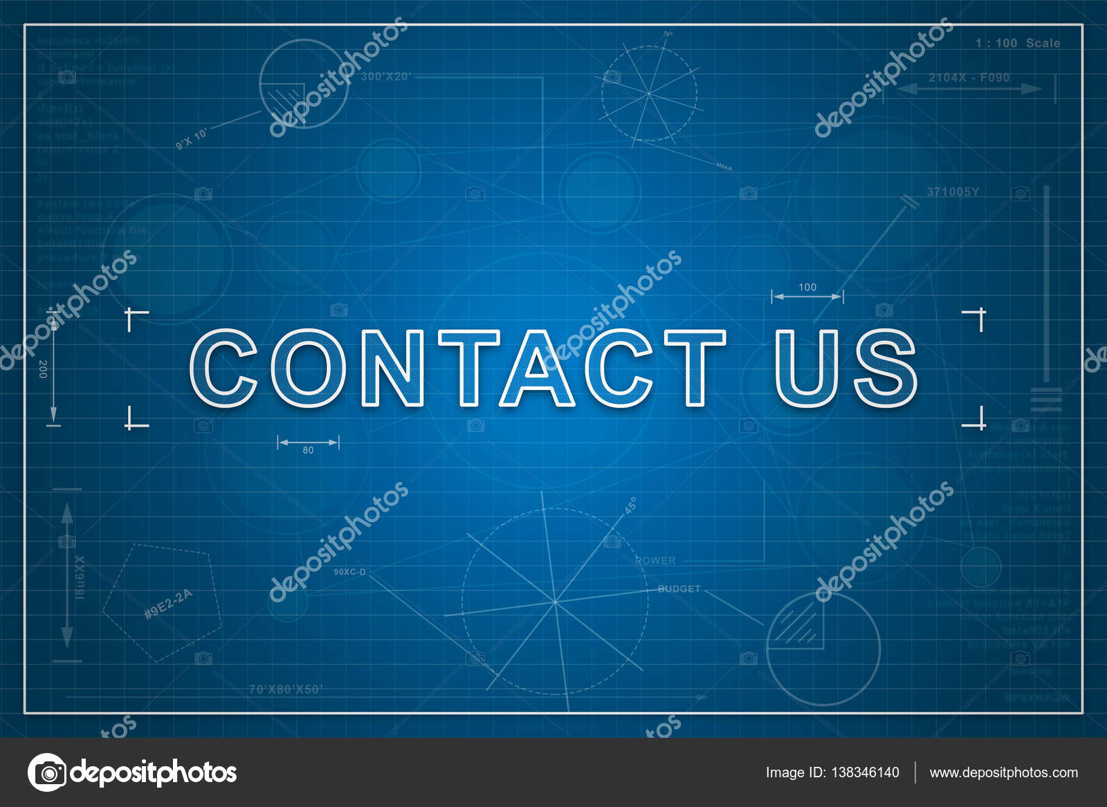 Blueprint of contact us stock photo pichetw 138346140 contact us on paper blueprint background business concept photo by pichetw malvernweather