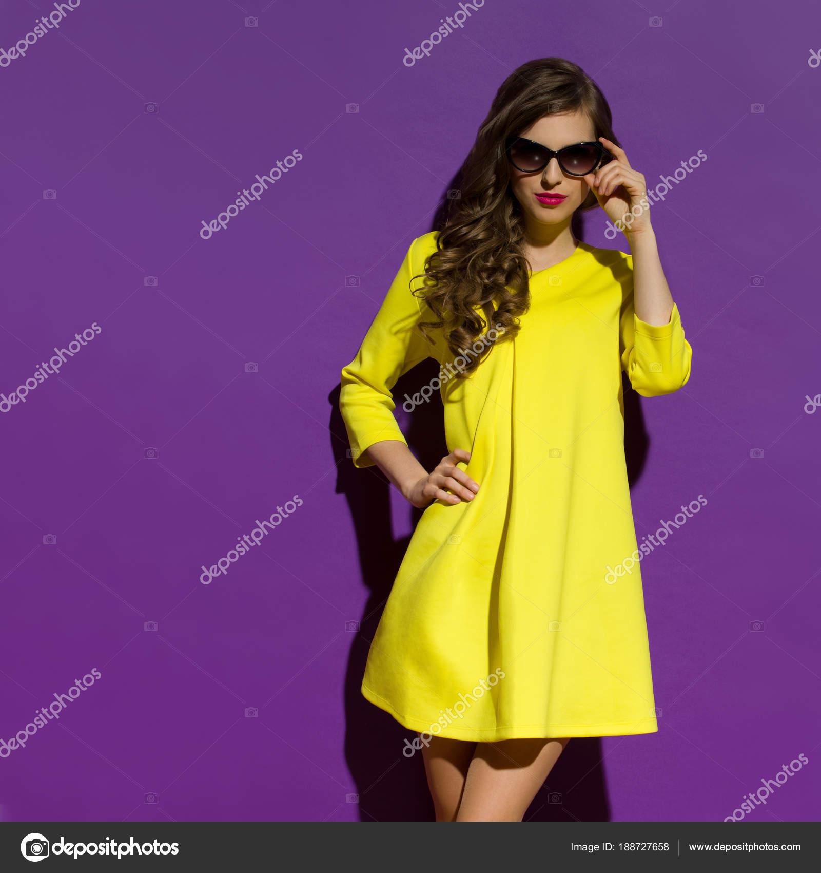Vistoso Sol Vestidos De Dama De Color Amarillo Patrón - Vestido de ...