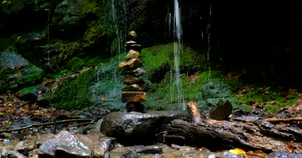 Stack of Stones at Amazing Jungle Waterfall
