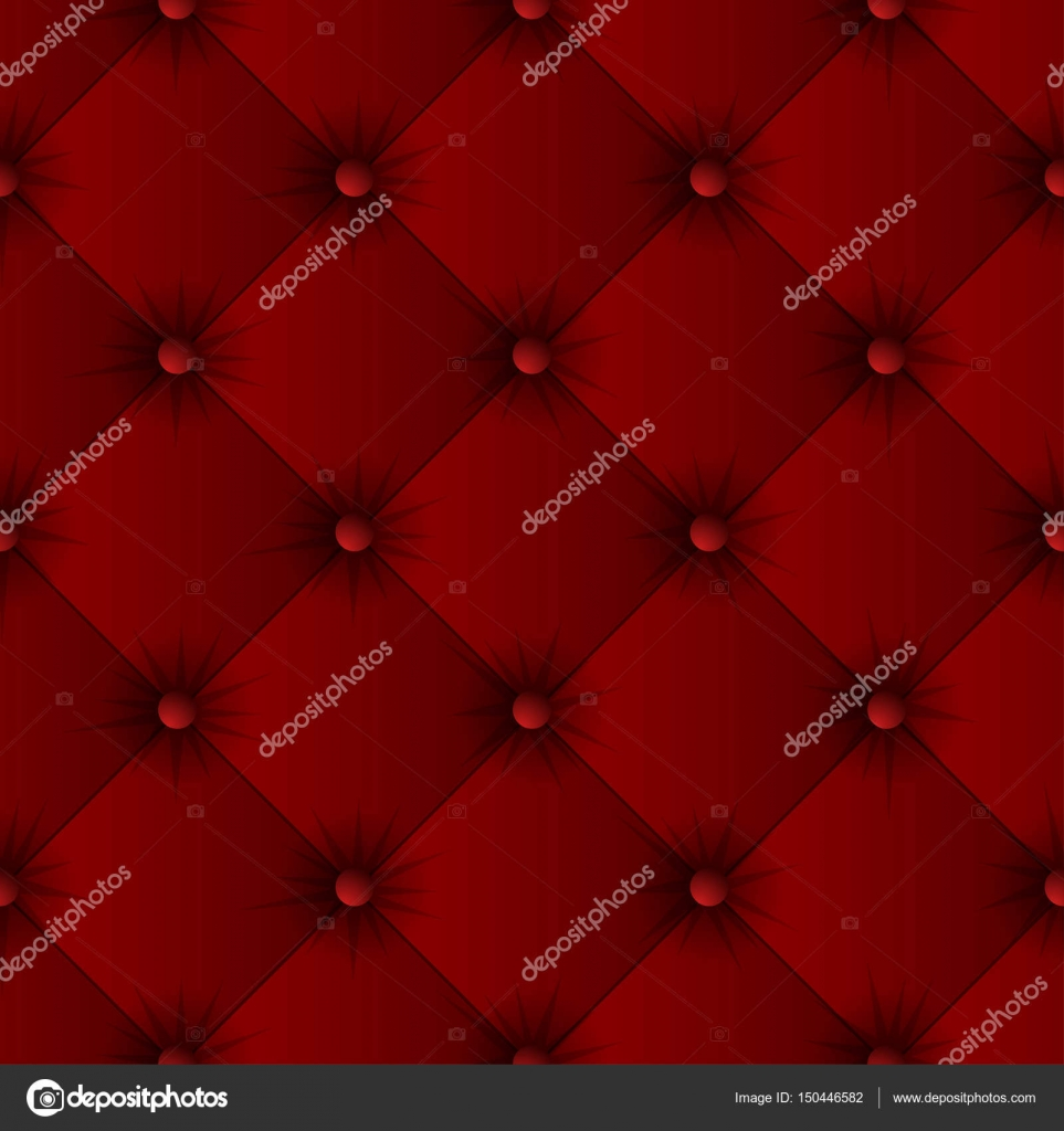 Red Sofa Texture Seamless Pattern Stock Vector